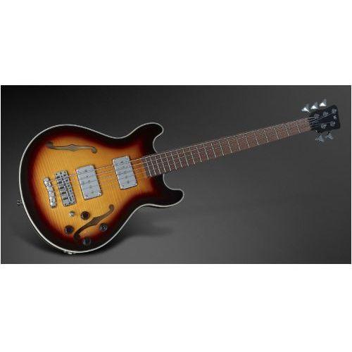 Rockbass star bass 5-str. vintage sunburst transparent high polish, fretted gitara basowa