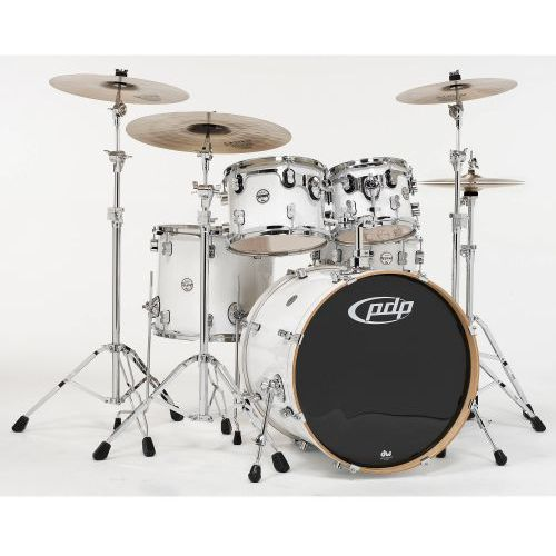 Pdp by dw shell set concept maple, pearlescent white zestaw perkusyjny