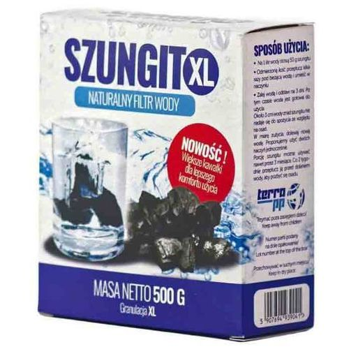 Naturalny filtr wody Szungit granulacja XL 500g Terra PP (5907694939041)