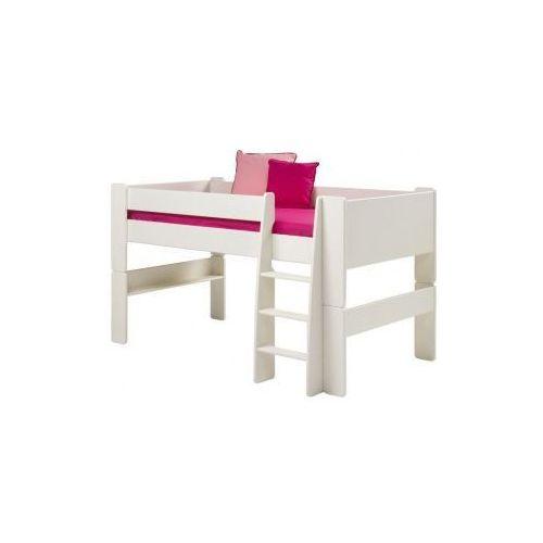 Łóżko piętrowe niskie - Steens for kids - białe - oferta [25704f7557b524ab]