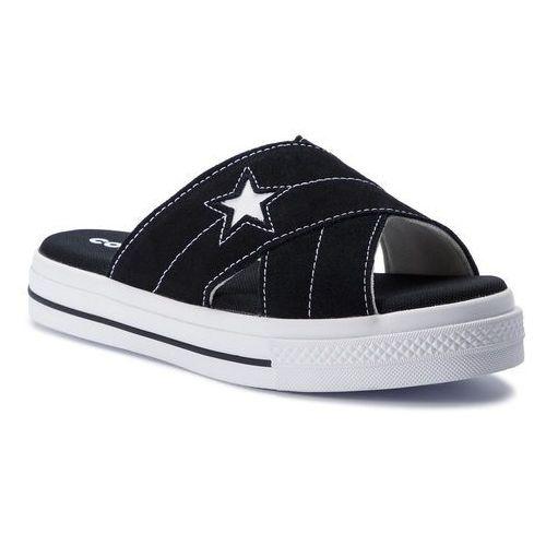 Klapki CONVERSE - One Star Sandal Slip 564143C Black/Egret/White, w 2 rozmiarach