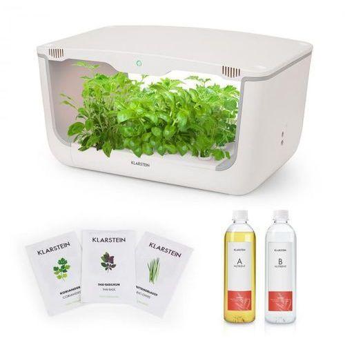 growlt farm starter kit i 28 roślin 48 w 8 l zestaw nasion azjatyckich pożywka marki Klarstein