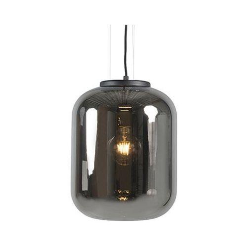 Qazqa Designerska lampa wisząca czarna przydymione szkło - bliss
