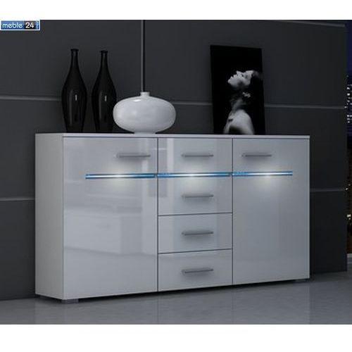 Biała komoda do salonu ROSA 130/81/ 37 cm