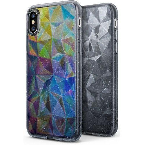 Etui Ringke Air Prism Glitter Apple iPhone X Gray, kolor czarny