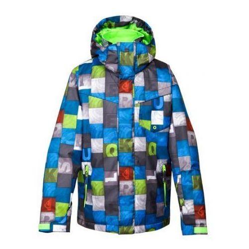 Kurtka snowboardowa Quiksilver Mission Printed 024 bnl1 brilliant blue 2014/15 kids - produkt z kategorii- kurtki dla dzieci