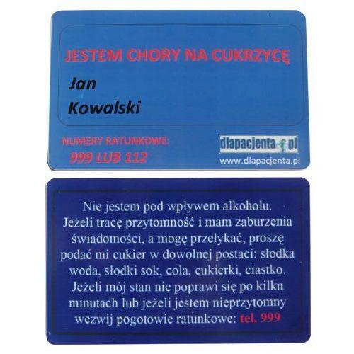 Dlapacjenta.pl - odzież medyczna Karta informacyjna - jestem cukrzykiem