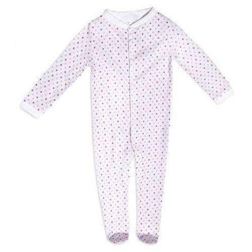Dolce sonno Pajac niemowlęcy różowe kropki