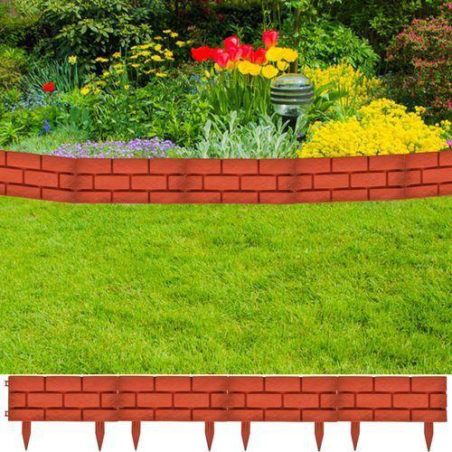 vidaXL Ogrodzenie trawnika, 11 części