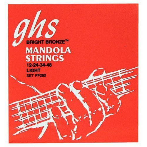 GHS Professional - Mandola String Set, Loop End, Bright Bronze, Light,.012-.048