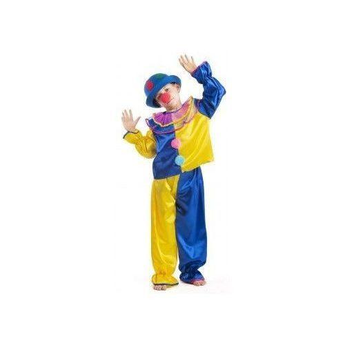 Strój Klaun żółty - przebrania / kostiumy dla dzieci, odgrywanie ról - 128 cm - sprawdź w www.epinokio.pl