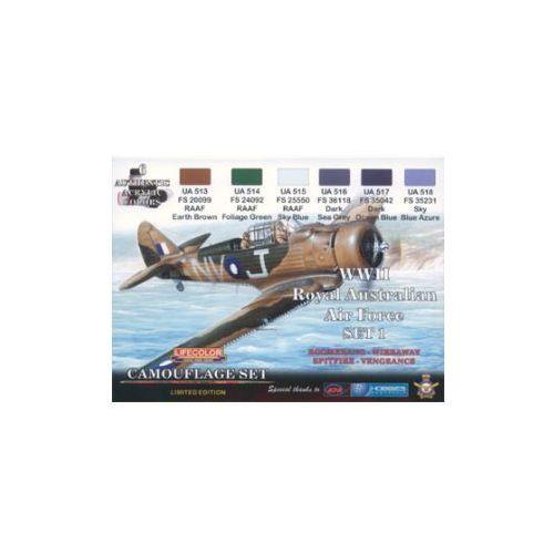 Zestaw kamuflażowych farb  XS01 WII Royal Australian Air Force SET1, produkt marki LifeColor