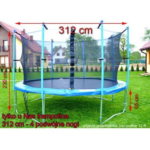 Trampolina ogrodowa z siatką o średnicy 312 cm 10 ft - 312 cm marki Top fitness