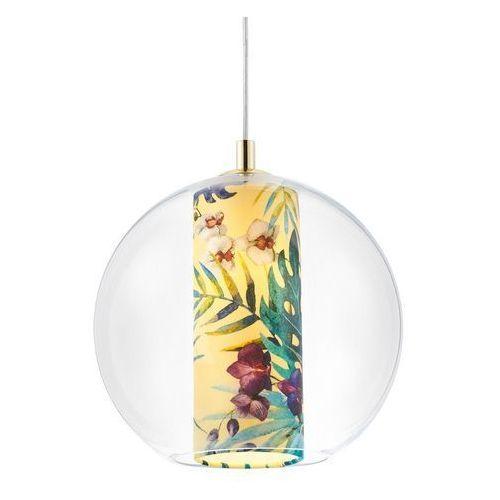 Kaspa - lampa wisząca feria m, żółta - żółty ||złoty