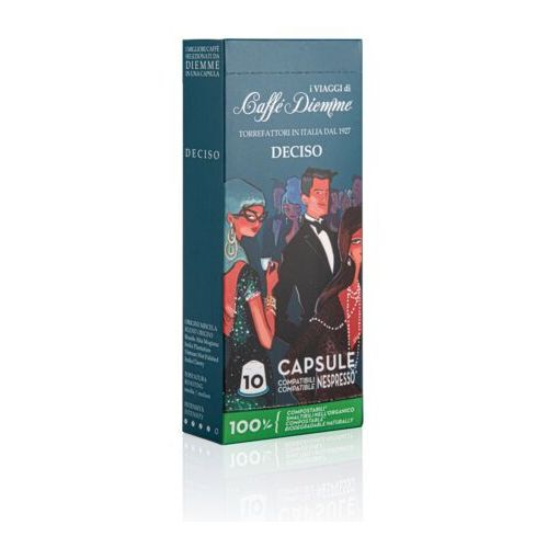 Deciso i viaggi di diemme kapsułki biodegradowalne do nespresso – 10 kapsułek marki Nespresso kapsułki
