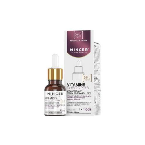 Mincer Pharma Vitamins Philosophy Serum wzmacniające do twarzy i szyi nr 1005 15ml - Mincer DARMOWA DOSTAWA KIOSK RUCHU (5902557261338)