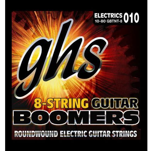 Ghs guitar boomers struny do gitary elektrycznej, 8-str. thin and thick,.010/080
