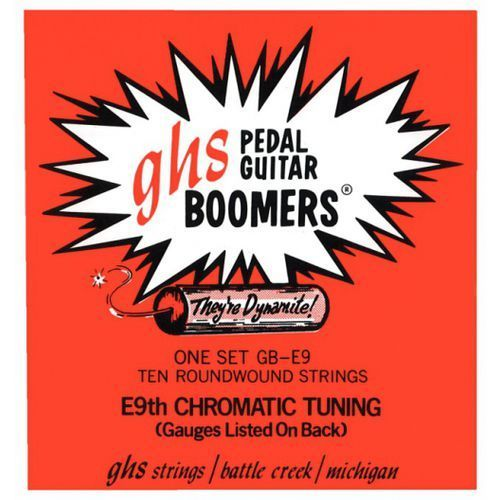 pedal steel boomers - struny do pedal steel guitar, 10-strings, e6 tuning,.012-.036 marki Ghs