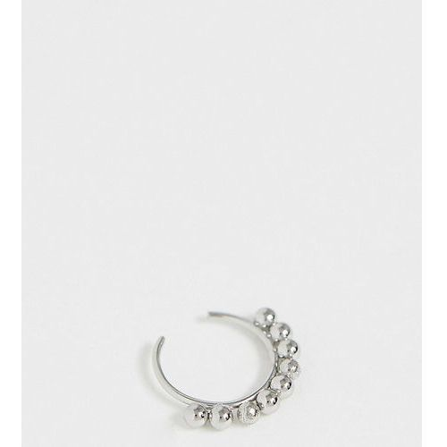 Reclaimed Vintage inspired detailed surgical steel nose peircing in silver exclusive to ASOS - Silver