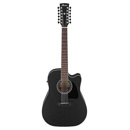 aw8412ce-wk wheathered black e-gitara akustyczna 12-strunowa marki Ibanez