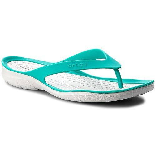 Crocs Japonki - swiftwater flip w 204974 tropical teal/pearl white