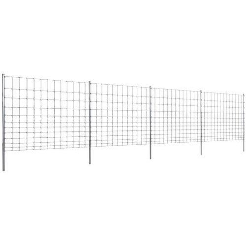 vidaXL Ocynkowane ogrodzenie ze słupkami, 50 m, 150/12/30 (140401+141105) ze sklepu VidaXL