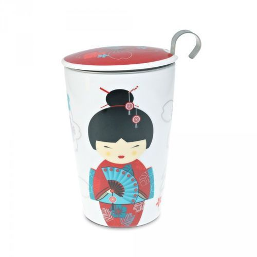 Eigenart kubek z zaparzaczem TeaEve Little Geisha Red 350 ml (4260082930657)