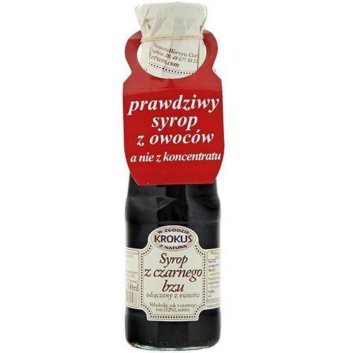 KROKUS 375g Syrop z czarnego bzu tradycyjna receptura