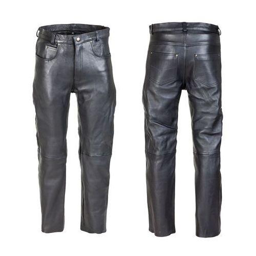 Męskie skórzane spodnie motocyklowe W-TEC Roster NF-1250, Czarny, 34 (8596084052193)