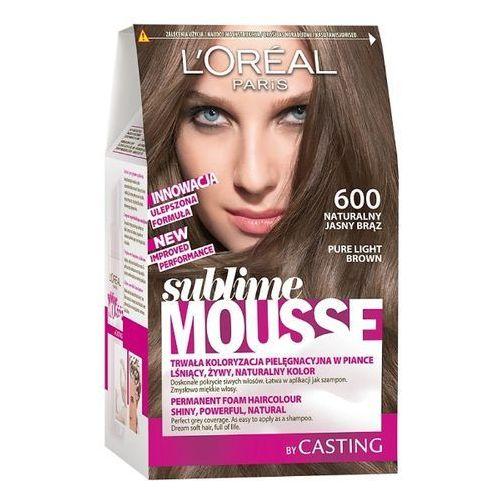 LOREAL Paris Sublime Mousse 600 Naturalny jasny brąz Farba do włosów, LOreal
