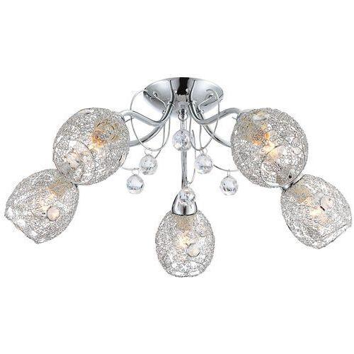 Plafon lampa oprawa sufitowa Globo Kordula 5x40W E14 chrom 56689-5 >>> RABATUJEMY do 20% KAŻDE zamówienie!!!