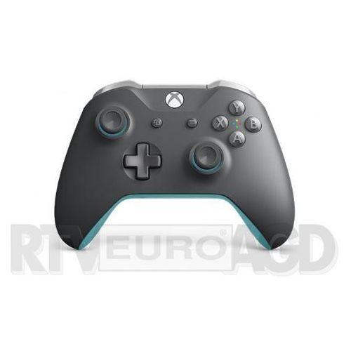 Microsoft Xbox One Kontroler bezprzewodowy (szaro-niebieski) (0889842327380)