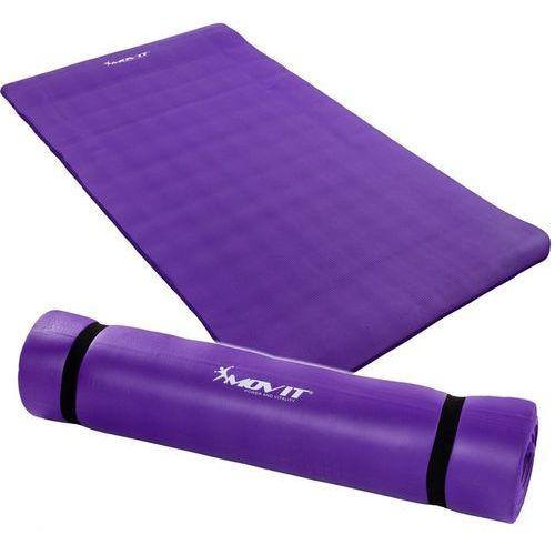 Fioletowa mata piankowa 190x60x1,5cm do ćwiczeń / gimnastyki / fitness - fioletowy / 190x60x1,5 cm marki Movit ®