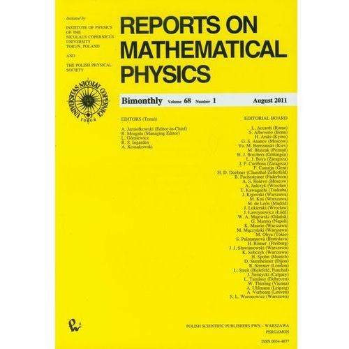 Reports on Mathematical Physics 68/1 Kraj (118 str.)