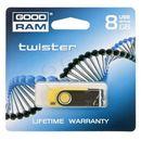 Produkt GOODDRIVE FLASHDRIVE 8192MB USB 2.0 Twister Yellow