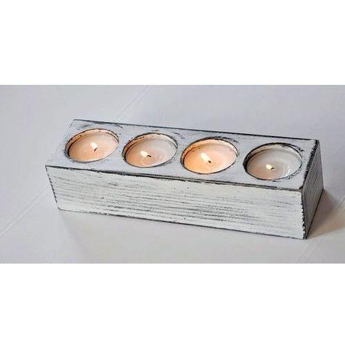 Drewniany świecznik na cztery podgrzewacze - oferta [05dbe406f1d2a564]
