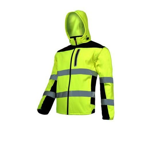 """Lahti pro l4091904 kurtka soft-shell ostrzegawcza z odpinanymi rękawami, żółta, """"xl"""", ce marki Lahtipro"""