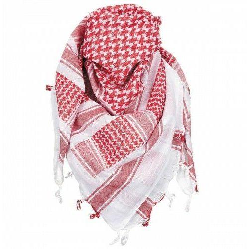 Shemagh - arafatka, 100% bawełna - czerwono-biała