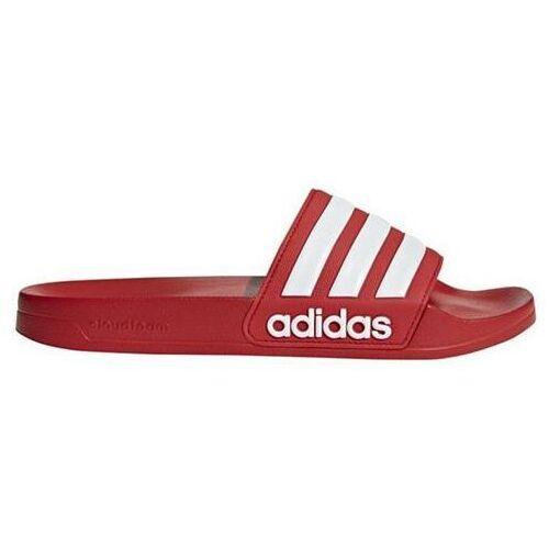 Klapki męskie adilette shower czerwone aq1705 marki Adidas