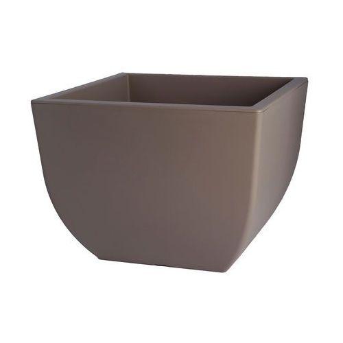 Doniczka muna 40 kwadrat szaro-beż. 39,5 cm marki Form plastic