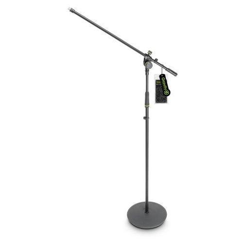 ms 2321 b statyw mikrofonowy z okrągłą podstawą i dwupunktową regulacją wysięgnika marki Gravity
