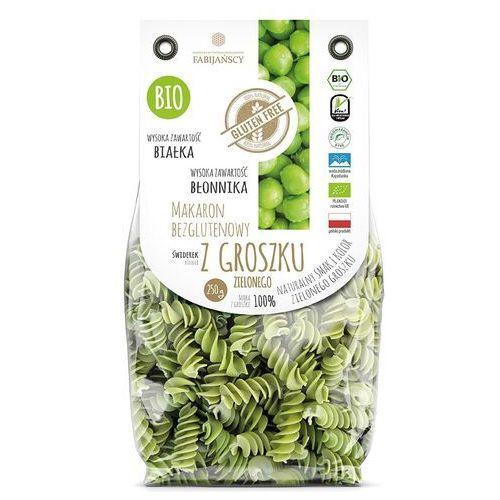 Makaron z groszku zielonego świderek fusilli bezglutenowy bio 250 g fabijańscy marki Fabijańscy (makarony)