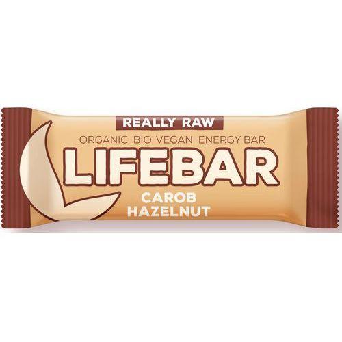Baton z karobem i orzechami raw bezglutenowy bio 47 g - lifefood marki Lifefood (batony raw, syrop z jakonu)