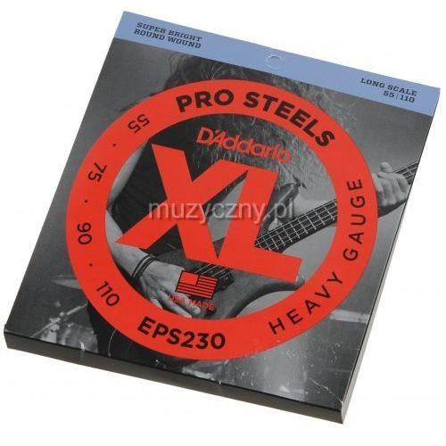 eps-230 pro steels struny do gitary basowej 55-110 marki D′addario
