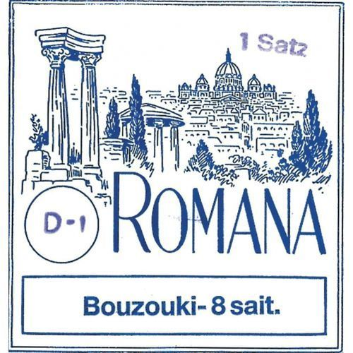 (658870) struny do buzuki - komplet 8 strun marki Romana