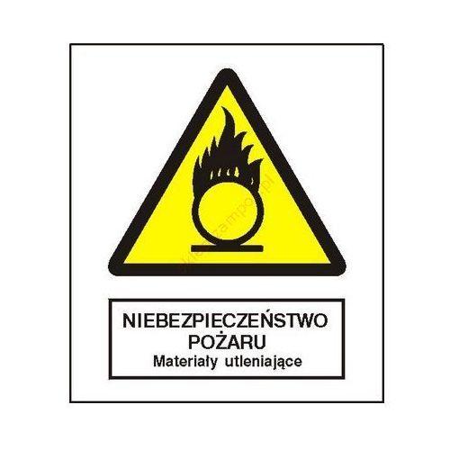 Znak niebezpieczeństwo pożaru - materiały utleniające fb marki Techem
