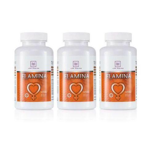 Mega zestaw 2+1 gratis flamina 180 caps | 100% dyskrecji | bezpieczne zakupy marki Lhx pharma