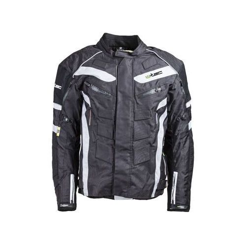 W-tec Męska kurtka motocyklowa wodoodporna nf-2116, czarno-biały, xxl