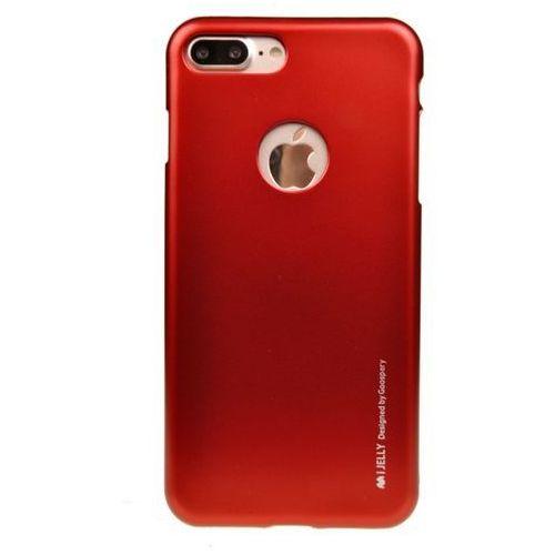 Mercury Etui nakładka goospery ijelly case do apple iphone 7 plus / iphone 8 plus czerwony - czerwony