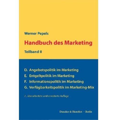 Handbuch des Marketing. Teilbd.2 Pepels, Werner (9783428149308)
